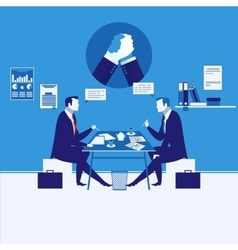Two businessmen having vector