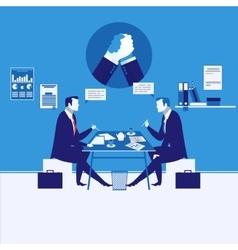 two businessmen having vector image
