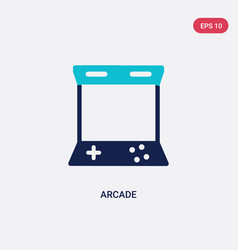 two color arcade icon from entertainment and vector image