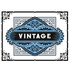 vintage card elements by layers vector image
