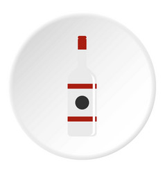 Vodka icon circle vector
