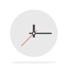 Wall clock without numbers flat isolated vector