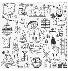 Winter holidays - doodles set 2 vector image