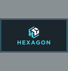 Xc hexagon logo design inspiration vector