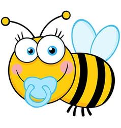 Baby Boy Bee Cartoon Mascot Character vector image
