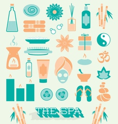 Day at The Spa Icons and Symbols vector image vector image