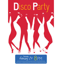 disco night party event flyer invitation vector image