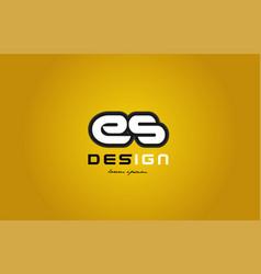 es e s alphabet letter combination digit white on vector image vector image