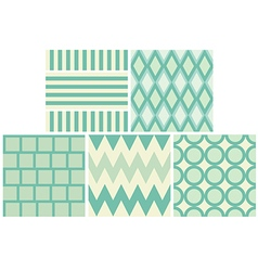 green 5 style pattern and wallpaper vector image vector image