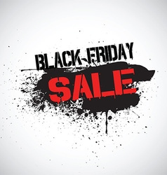 Grunge Black Friday sale background vector image vector image