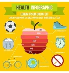 Health infographic flat style vector image