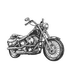 Motorcycle engraved vector