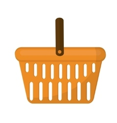 Shopping basket icon flat style isolated on white vector image vector image
