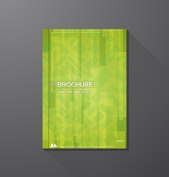 Book cover abstract green shapes vector image vector image