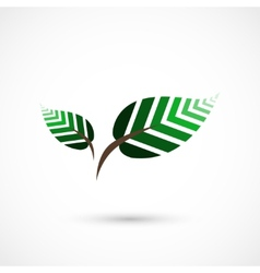 Geometrical leaves vector image