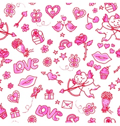love patern vector image