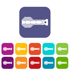 measuring centimeter icons set vector image vector image