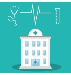medical hospital center vector image