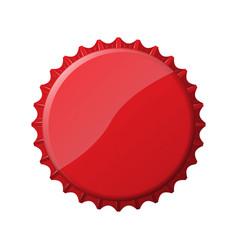 Red bottle cap vector image