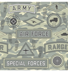 seamless military pattern 08 vector image vector image