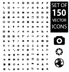 Set of 150 icons vector image vector image