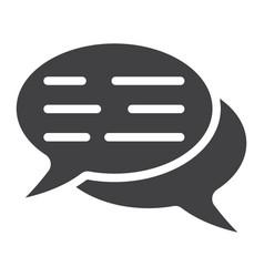speech bubbles glyph icon seo and development vector image vector image