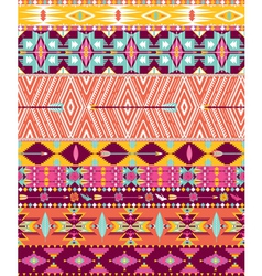 Aztec geometric seamless pattern vector image vector image