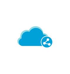 cloud computing icon share icon vector image