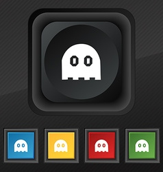 Ghost icon symbol set of five colorful stylish vector