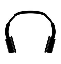 headphones the black color icon vector image vector image