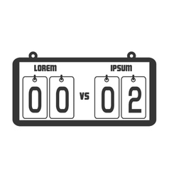 icon score board goals football american isolated vector image