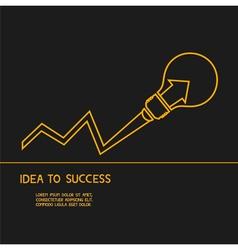 Idea make to success Concept of idea vector image vector image