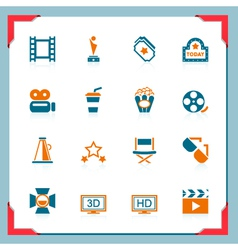 movie icons - in a frame series vector image vector image