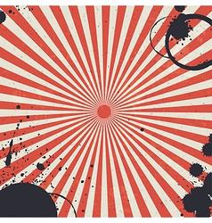 red sunburst background vector image