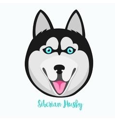 Siberian husky icon flat vector image vector image