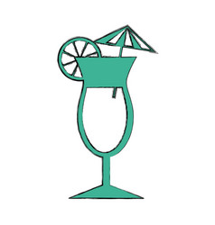 tropical cocktail isolated icon vector image vector image