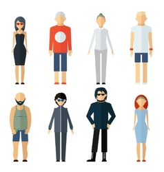Assorted people on different lifestyle vector