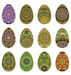 Easter egg design set vector image vector image