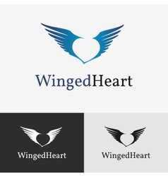 Flying wings Logo template vector image vector image
