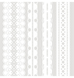 four white ribbons vector image vector image