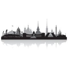 Saint Petersburg city skyline silhouette vector image