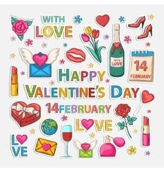 Valentines clip art vector image vector image