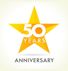 50 anniversary star logo vector