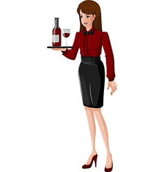 A waitress vector