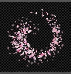Abstract flying petals vector
