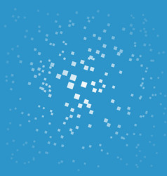abstract white bokeh dots with blue background vector image