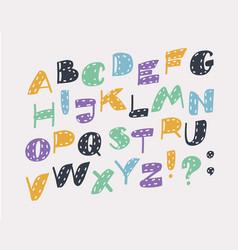 alphabet letters slanted lettering symbols vector image