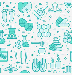 alternative medicine seamless pattern vector image