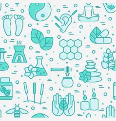 Alternative medicine seamless pattern vector