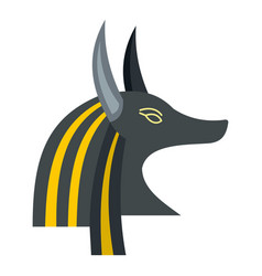 Anubis head icon isolated vector